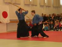 Семинар Сугавара Сенсея в городе Лахти, Финляндия, весна 2003 года. Показательные выступления Тэнсин Сёдэн Катори Синто Рю.