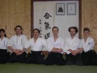 Семинар Сугавара Сэнсэя по Айкидо в Финляндии, весна 2003 года. В центре - Тэцутака Сугавара Сэнсэй, Петтери Силениус Сэнсэй.