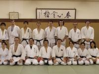 Российско-грузинская команда в клубе айкидо университета Вассэда.