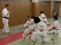 Ткачёва Елена, корю дай сан. Тренировка в клубе айкидо университета Васэда. Токио, Япония.
