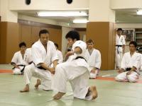 Тадаюки Сато сэнсэй, сихан клуба айкидо университета Васэда. Токио, Япония.