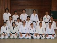 Представители России и члены Рёкокай додзё, Эдогава, Токио, Япония.